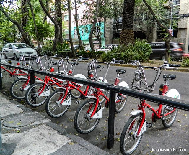 Bicicletas compartilhadas na Cidade do México