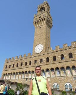 Palazzo Vecchio desde la Galleria degli Uffizi.