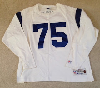 Los Angeles Rams Deacon Jones Champion Throwbacks jersey