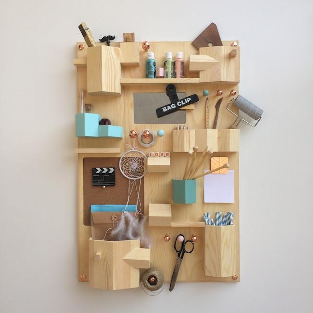 A sunday morning with come organizzare una craft room - Portaoggetti da parete ikea ...