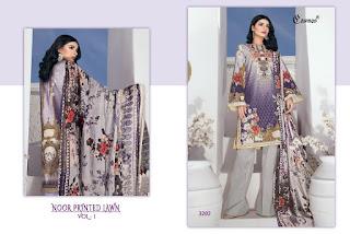 Cosmos noor Printed Lawn vol 1 pakistani Suits