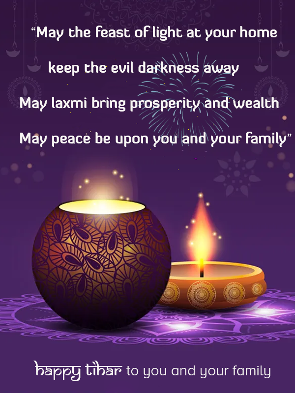 best wishes for tihar and diwali in english