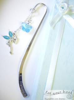 segnalibro ciondolo fatina farfalla