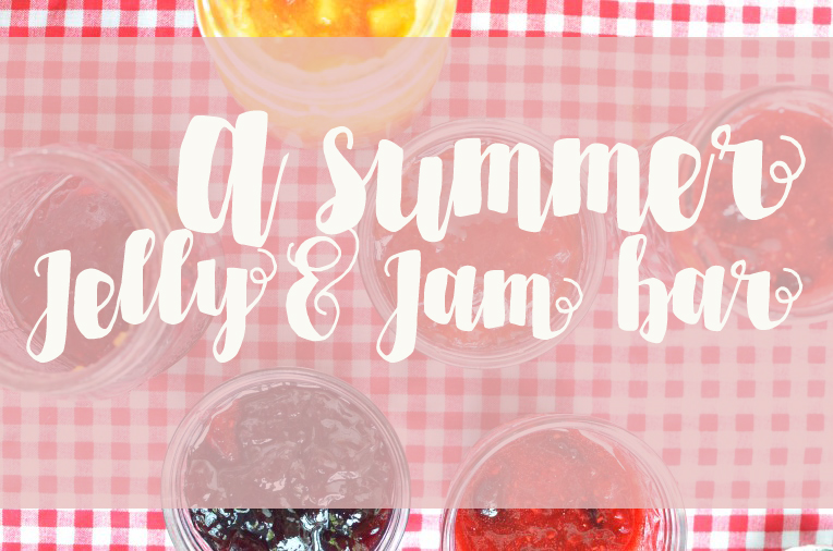 A summer Jelly and Jam tasting Bar by Amy Renea of Crafting With Nature Lilac Jelly Redbud Jam