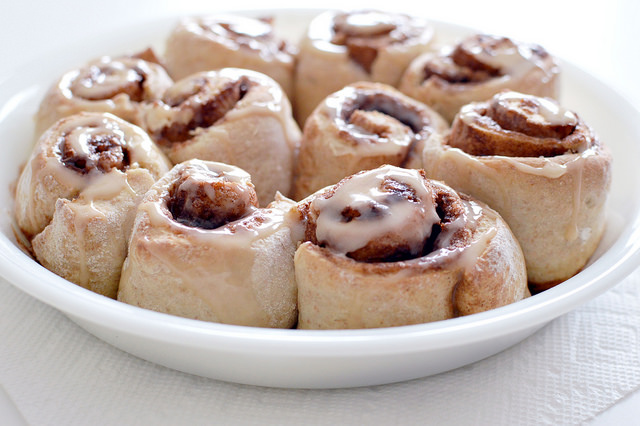 Low Fat Whole Wheat Cinnamon Rolls