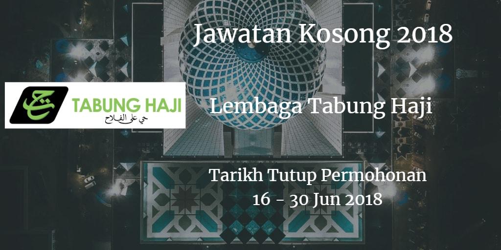 Jawatan Kosong Lembaga Tabung Haji  TH 16 - 30 Jun 2018
