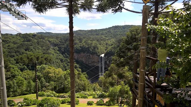 Vista do teleférico, Serra Gaúcha