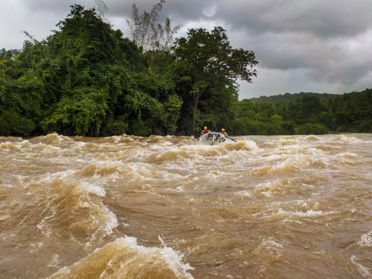 Monsoon Rafting in Goa, on Mhadei River