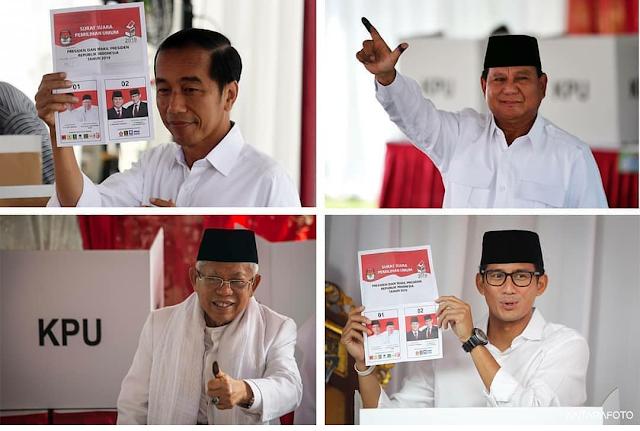 hasil hitung cepat pemilu 2019 online secara langsung
