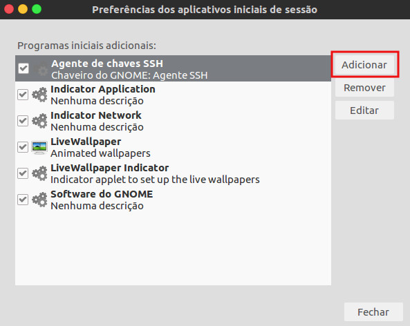 inciar programa na inicializacoa do ubuntu linux