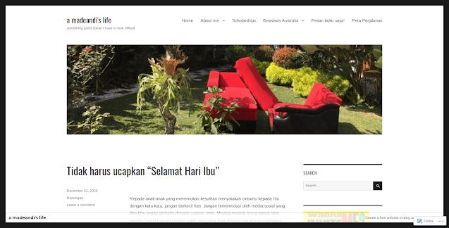a madeandi's life dalam Blog Terbaik versi sactiest