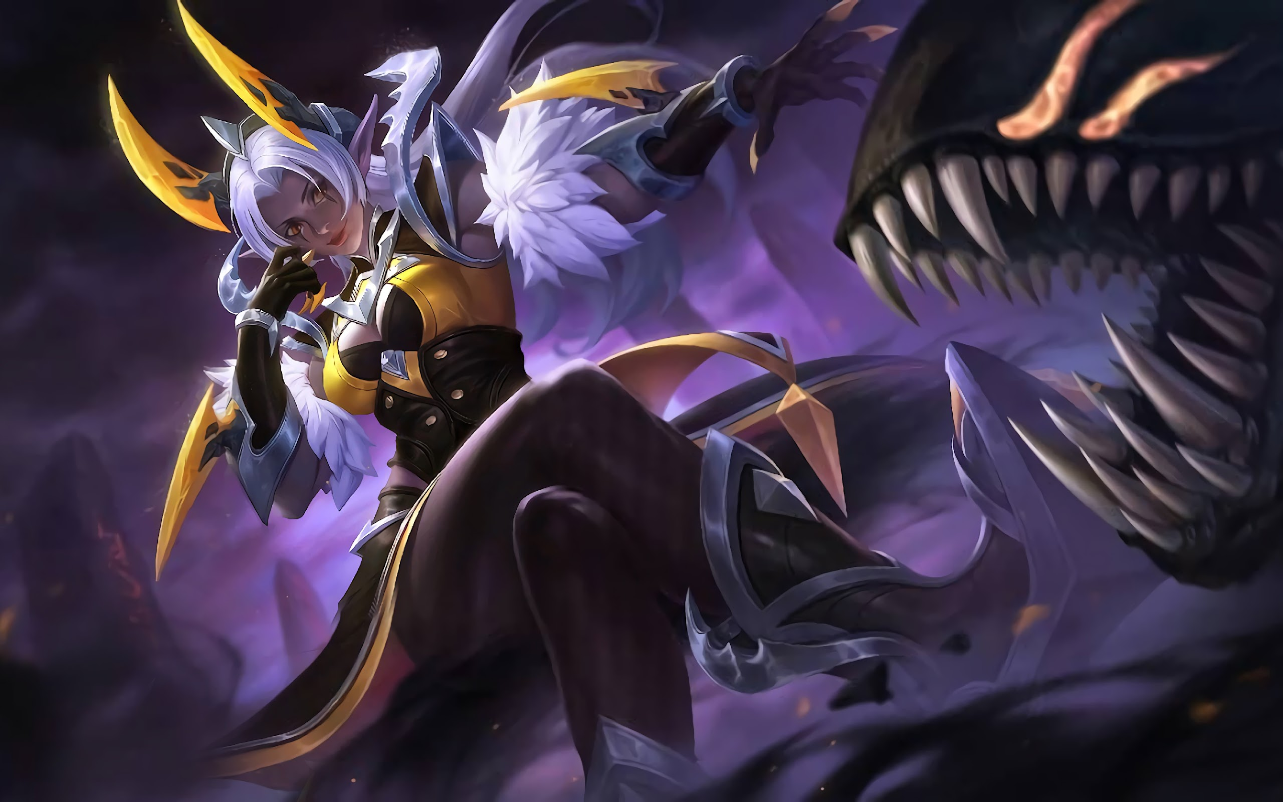 Selena Wasp Queen Skin Mobile Legends 4k Wallpaper 152