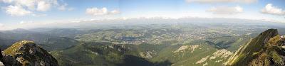 Północna panorama ze szczytu Giewontu.