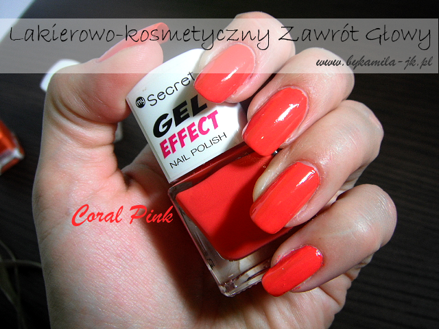 Lakier Gel Effect My Secret Coral Pink