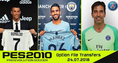 PES 2010 Next Season Patch 2018 Option File 24/07/2018 Season 2018/2019
