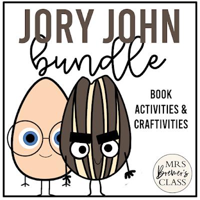Jory John book study activities unit BUNDLE with literacy activities and craftivities for Kindergarten and First Grade
