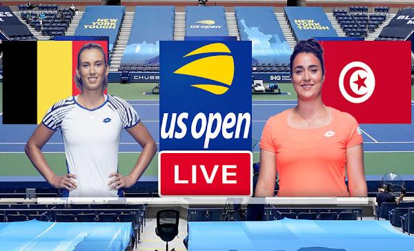 Match Tennis En Direct Ons Jabeur vs Elise Mertens, US Open 2021