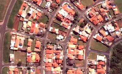 Print Screen de imagem de satélite publicada pelo Google, sobre o loteamento Jardim Europa em Paulínia/SP.