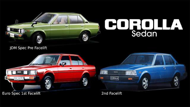 Jenis-Jenis Toyota Corolla sedan