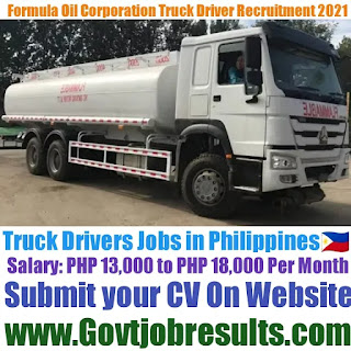 Formula Oil Corporation Truck Driver Recruitment 2021-22