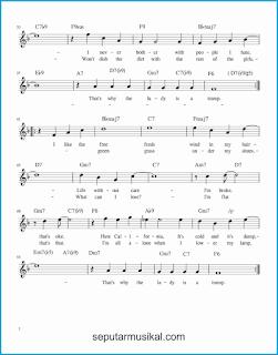chord the lady is a tramp 2 lagu jazz standar