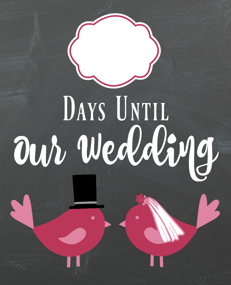 Diy Lovebirds Wedding Countdown Sign