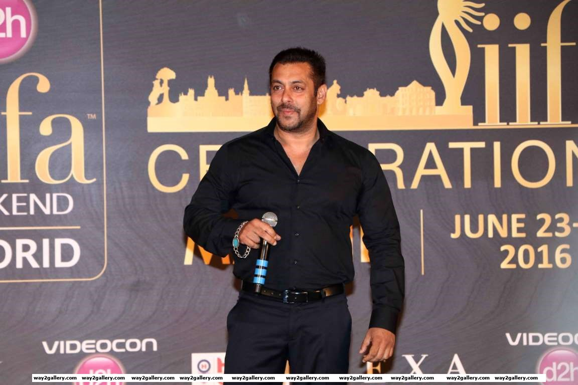 Salman Khan addresses the media at the th International Indian Film Academy IIFA Awards press conference