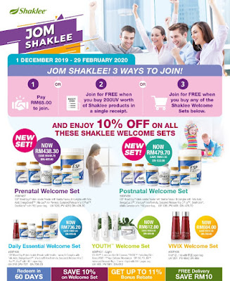 Promosi Jom Shaklee-Welcome Set