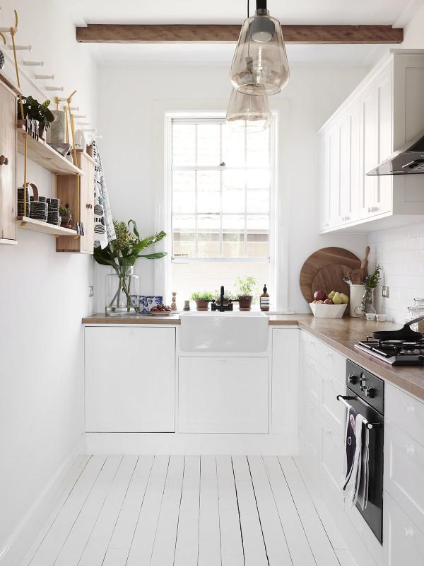 Swedish summer house kitchen interior