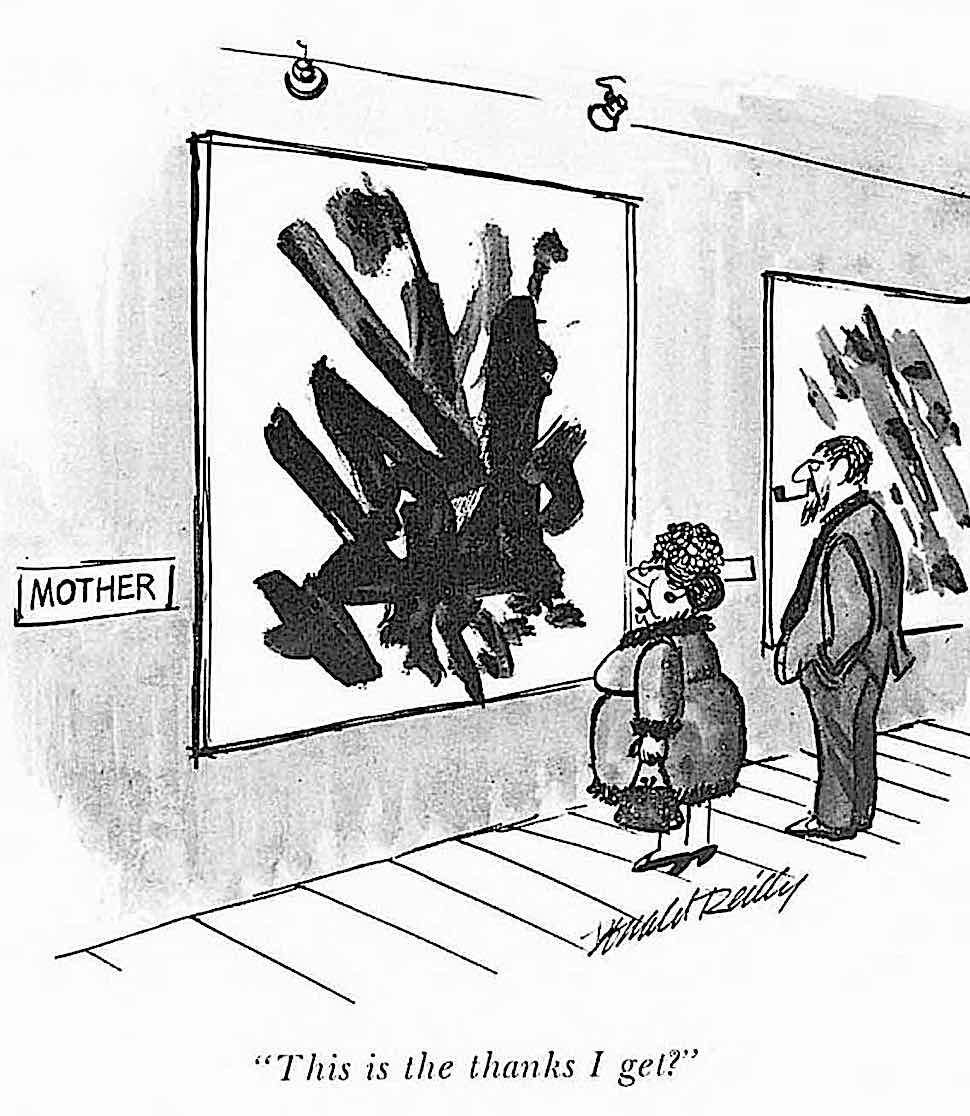 a Ronald Reilly cartoon about artists and Mothers