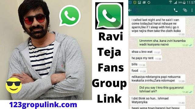 Join 40+ Ravi Teja Fans Whatsapp Group Links 2020