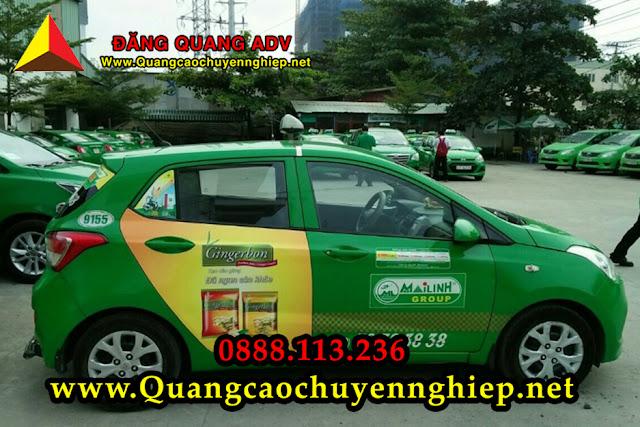 Dán decal Taxi