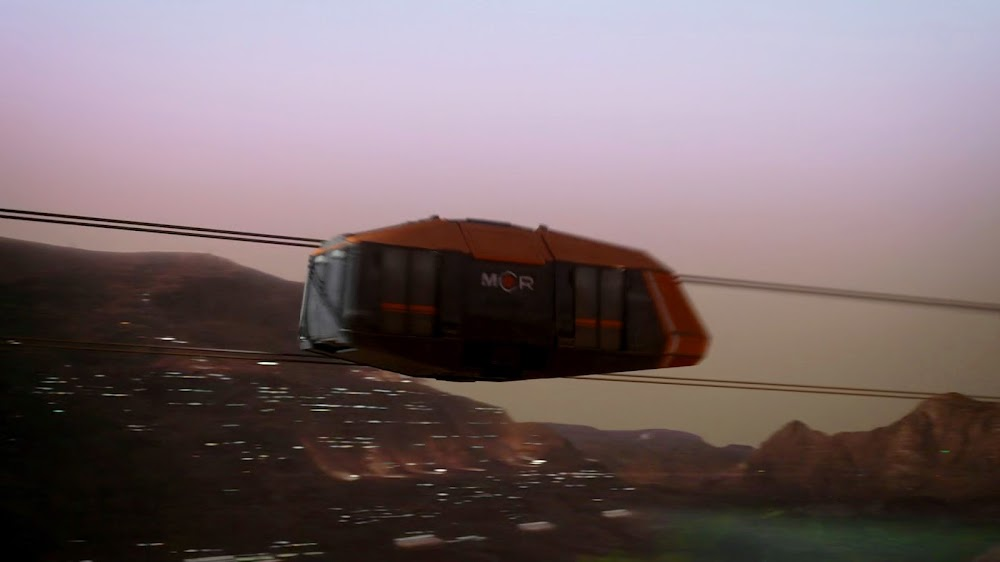 Cable car on Mars in Season 4 of The Expanse