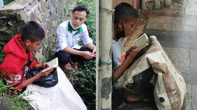 Viral Pemulung Baca Quran Saat Berteduh Kehujanan, Ditinggal Ibu Kandung Sejak Usia 8 Bulan