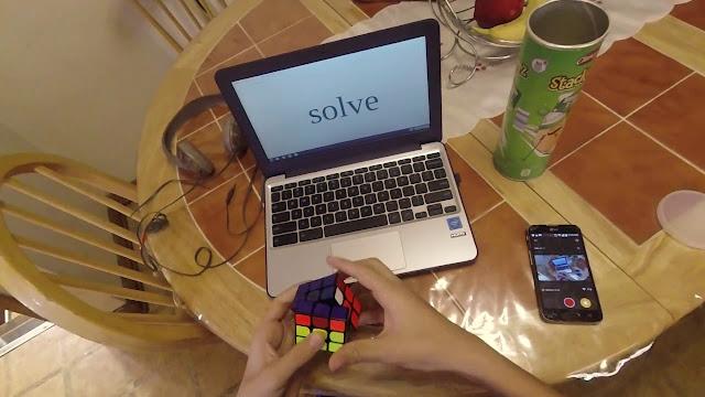 berlatih notasi dan algoritma rubik di rumah