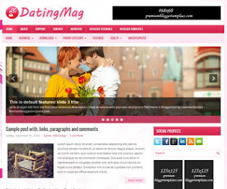 DatingMag Blogger Template