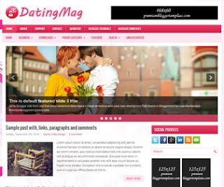 DatingMag Blogger Template