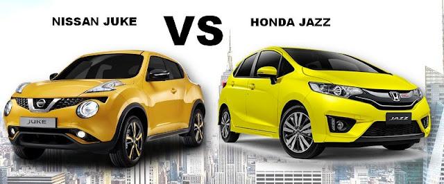 Komparasi Nissan Juke VS New Honda Jazz