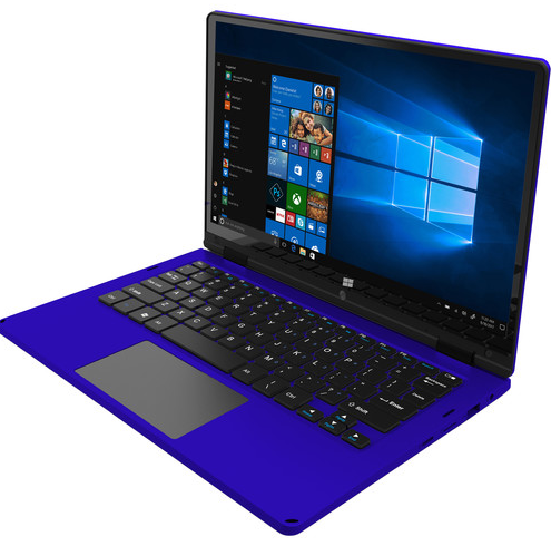 """Ematic 11.6"""" 2-in-1 Laptop (Blue)"""