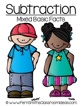 Quick and Easy to Prep Mixed Subtraction Basic Facts Center Freebie! CLICK HERE!