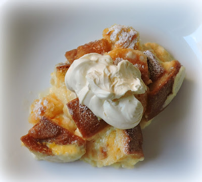 Lemon Panettone Pudding