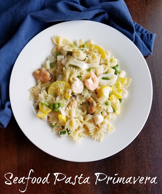 This flavorful springtime pasta was a big winner on our dinner table. Seafood pasta primavera is sure to make it's way into your heart as well!