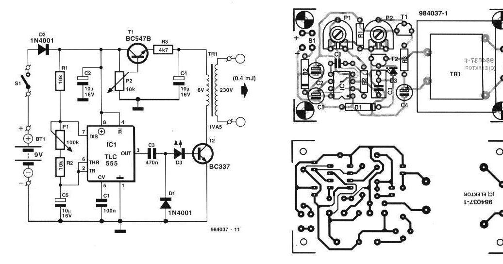 Circuitos electronicos: Circuito electrificador de alambrados