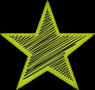Clipart de Estrellas con Rayas.