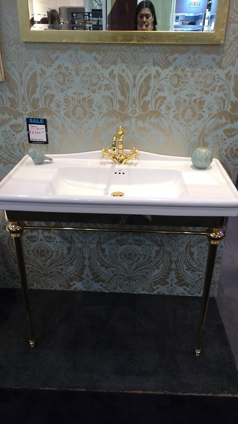 gold glam sink