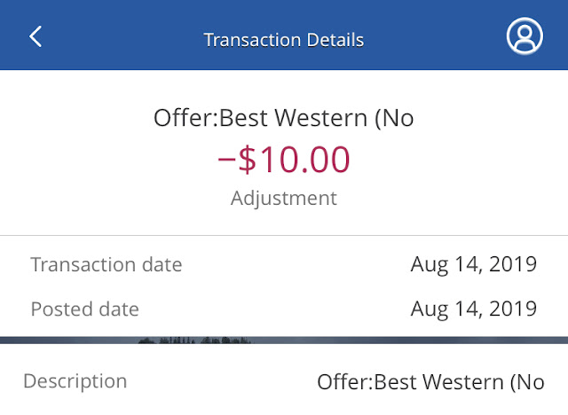 Chase Best Western Offer