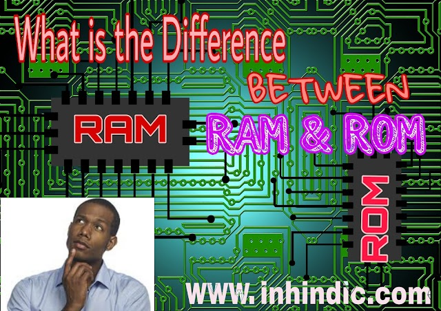 What is RAM & ROM in a Mobile & Computer and their difference ?