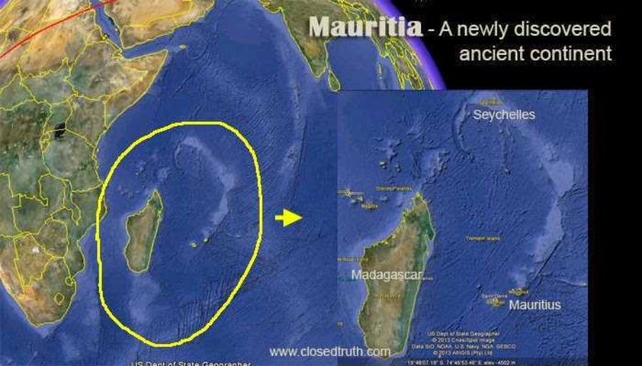 Lost Ancient Continent of Mauritia