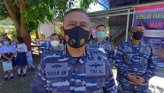 TNI AL Targetkan 1300 Dosis Vaksin Saat Serbuan Di Kepulauan Talise