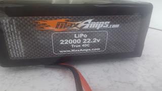 Max amps Lipo 22000 22.2v 40c battery for thormang3